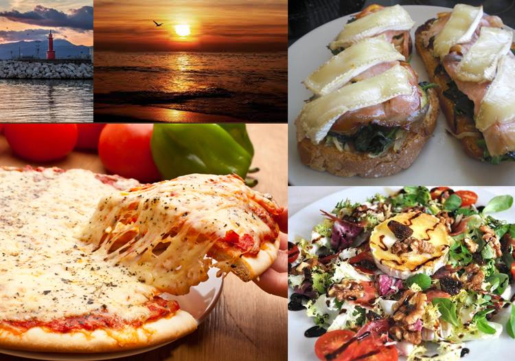 Comer junto a la playa en Vilafortuny