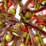 Ensalada de espárragos y anchoas