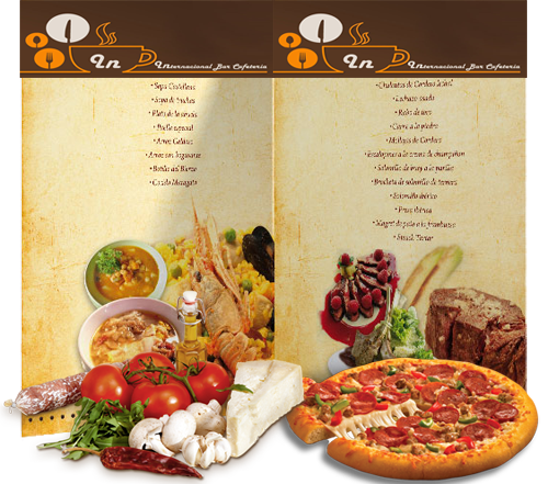 menú y carta Caftería Internacional