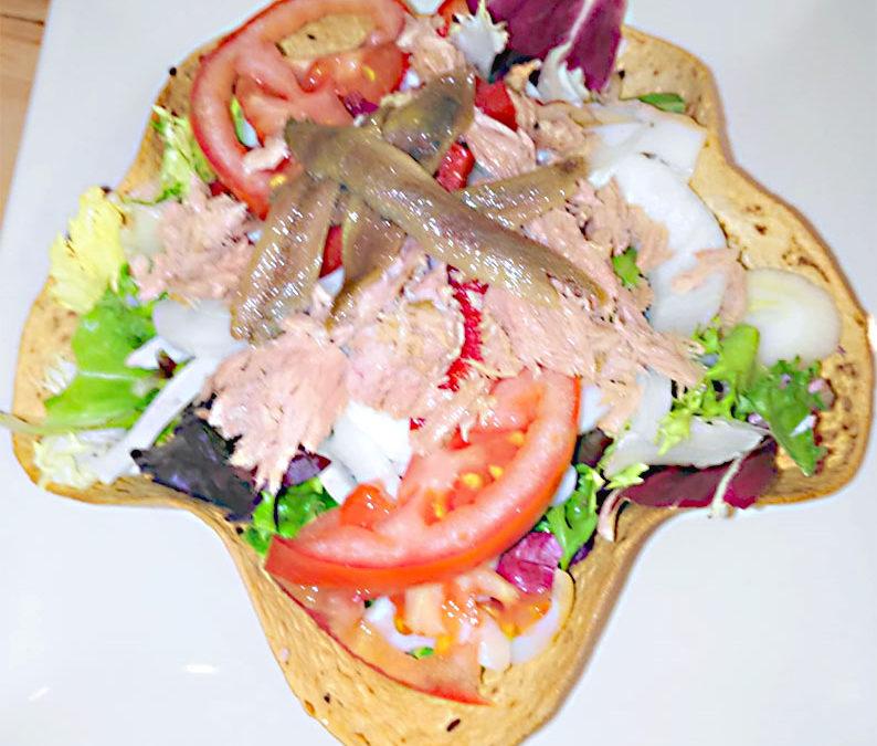 Ensalada atún y anchoas